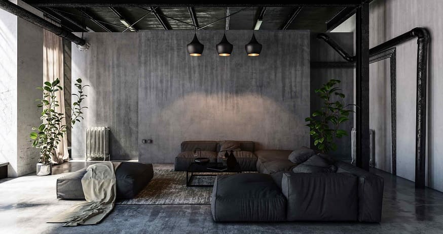 diseño salón industrial Granada
