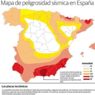 Mapa sismico de españa